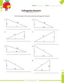 right angle triangle worksheet with answers, Pythagorean theorem worksheet with answers