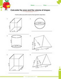 solid figures worksheet, sphere, rectangle, cylinder, triangle prism and rectangle prism